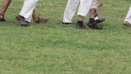 Steps On Grass 02b stock footage