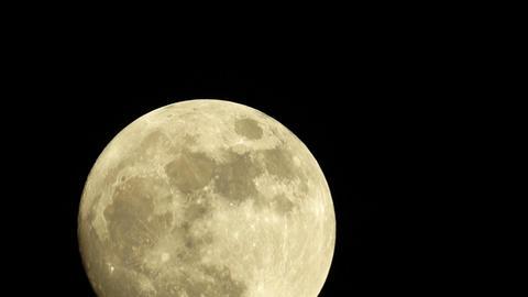Large Full Golden Moon Footage