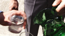 Waiter Are Pouring Sparkling 01 stock footage