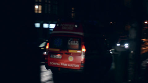 Ambulance in action 01 Footage