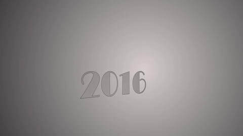 2016 New Year card Stock Video Footage