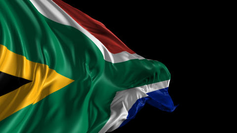 Flag of South Africa Animation