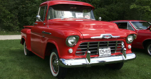 Chevrolet truck at Guelph classic car show Live Action