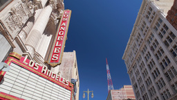 Los Angeles Theater Building Exterior In Downtown stock footage