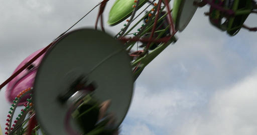 Spinning wheel at amusement park Footage