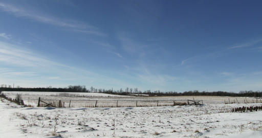 Uncultivated fields in organic farm in winter Footage