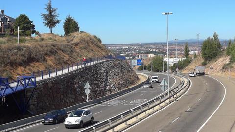 Vehicle traffic on highway 09 Footage