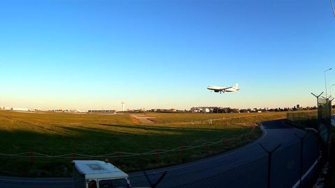 Landing Aircraft stock footage