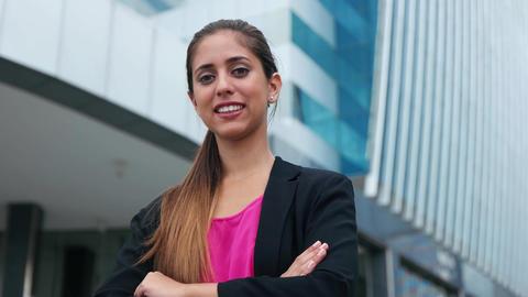 Portrait Confident Business Woman Looking Copy Space GIF