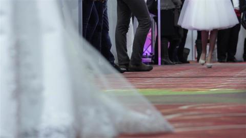 Wedding Dress 03 stock footage