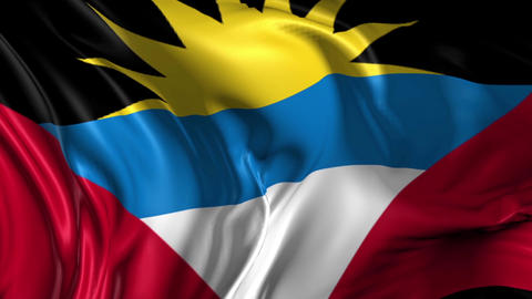 Flag of Antigua Animation