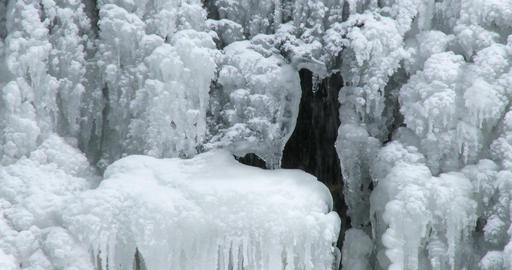 Icefall in winter in Canada Footage