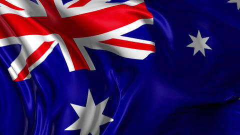 Flag of Australia Animation