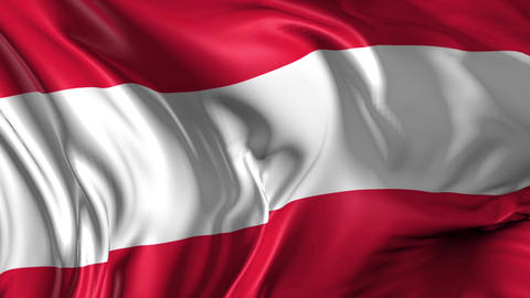Flag of Austria Animation