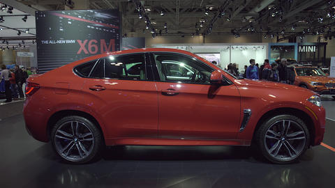 2015 BMW X6M In 4K UHD stock footage
