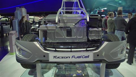 2015 Hyundai Tucson Fuel Cell in 4K UHD Footage
