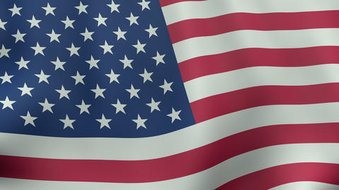 4K UltraHD Loopable waving American flag animation Animation