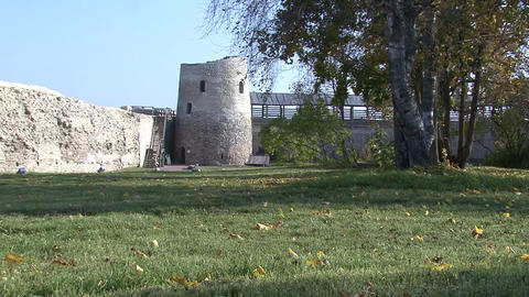 In The Old Russian Fortress stock footage