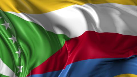 Flag of Comoros Animation
