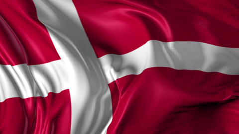 Flag of Denmark Animation