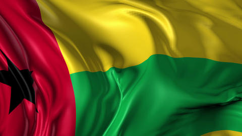 Flag of Guinea Bissau Animation