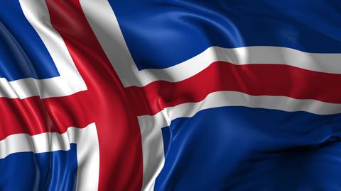 Flag of Iceland Animation