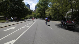 Bicycle Ride In Central Park New York City stock footage