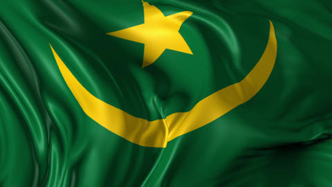 Flag of Mauritania Animation