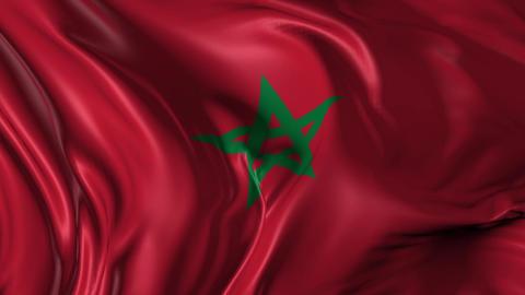 Flag of Morocco Animation