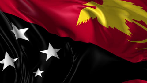 Flag of Papua New Guinea Animation