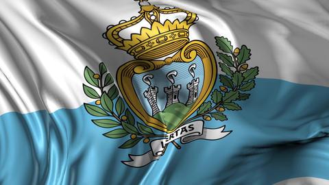 Flag of San Marino Animation