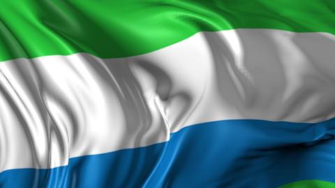 Flag of Sierra Leone Animation
