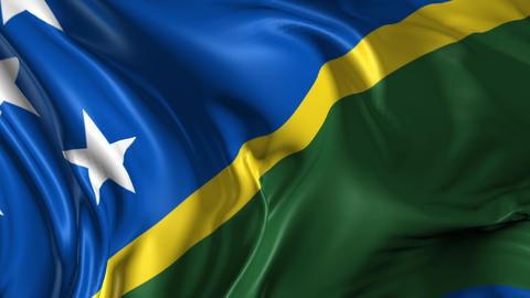 Flag of Solomon Islands Animation