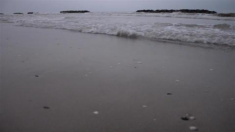Waves on beach 06 Footage