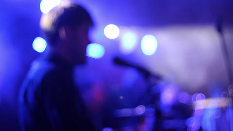 Disco music concert 18d Footage