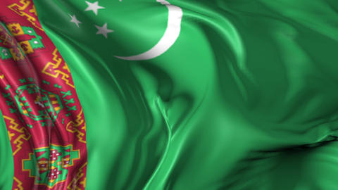Flag of Turkmenistan Animation