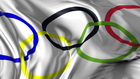 Flag of the Olympic Games Animation