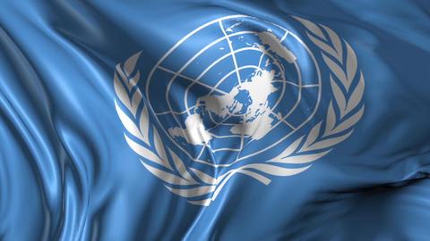 Flag of United Nations Animation