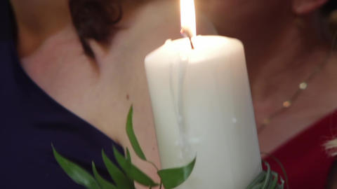 Candles and wedding bouquet 02 Footage