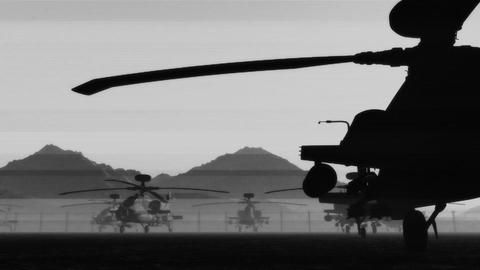 Apaches Base 03 dolly bad signal Stock Video Footage