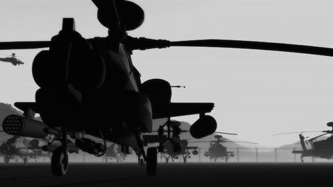 Apaches Base 06 bw signal Stock Video Footage