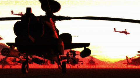 Apaches Base 08 bad signal Stock Video Footage