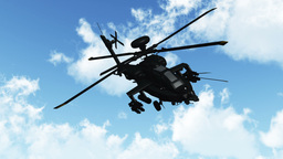 Apaches Flying 01 day Animation
