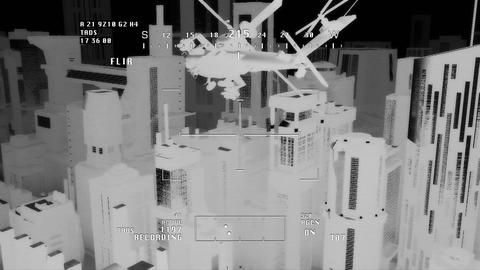 Apaches in City 08 nightvision apache monitor Animation