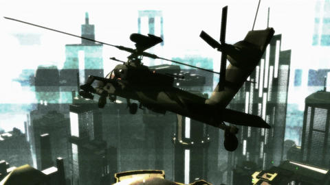 Apaches in City 17 bad signal Stock Video Footage