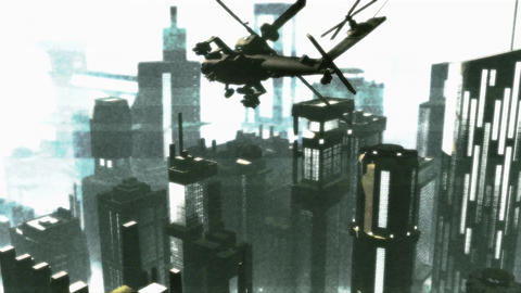 Apaches in City 17 bad signal Animation