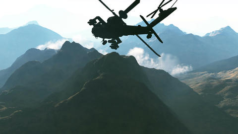 Apaches in Mountains 02 day Stock Video Footage