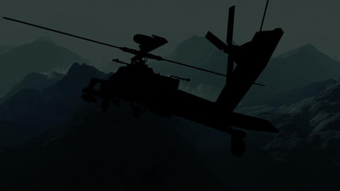Apaches in Mountains 04 night Stock Video Footage