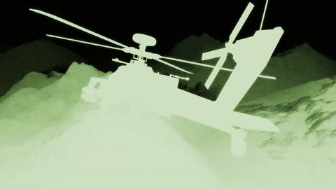 Apaches in Mountains 06 nightvision Stock Video Footage