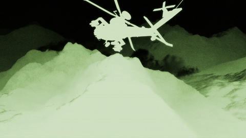 Apaches in Mountains 06 nightvision Animation